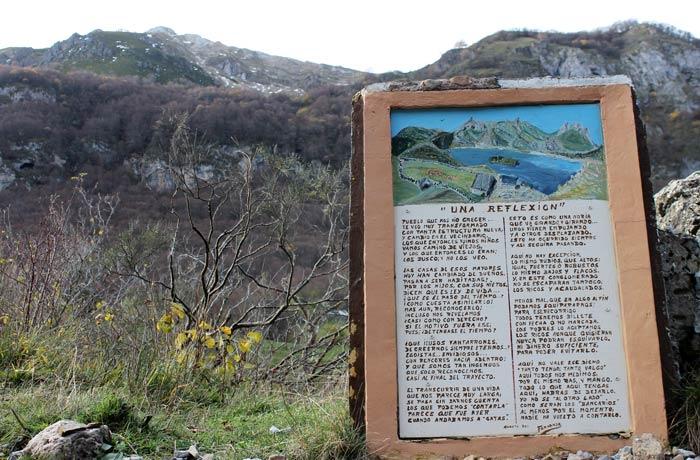 Poema al inicio de la ruta del Lago del Valle