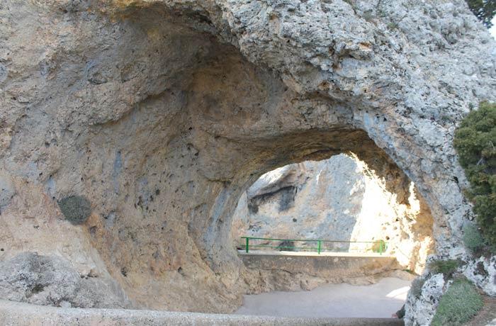 Forma de la roca del Ventano del Diablo