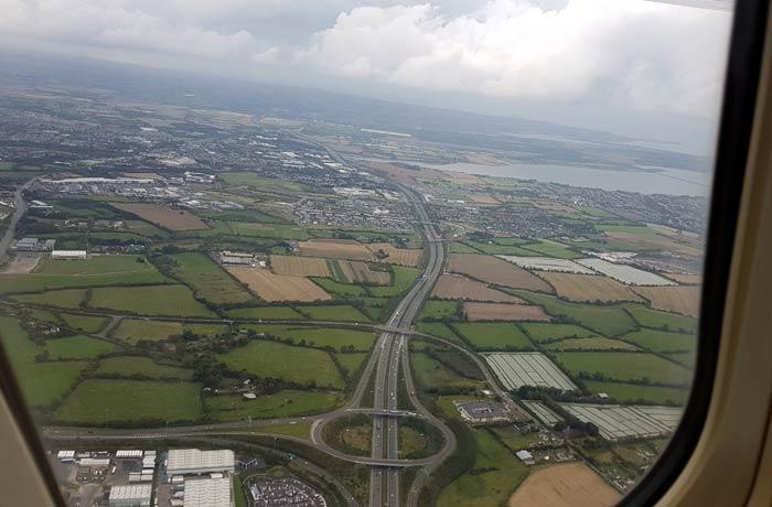 Vistas desde el avión una semana en Irlanda