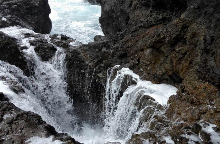 Otra imagen del bufadero de la Garita qué ver en Gran Canaria
