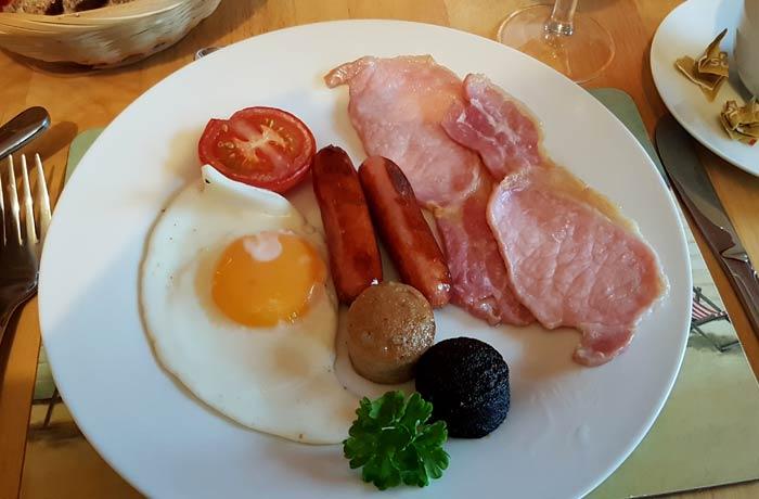 Desayuno irlandés una semana en Irlanda