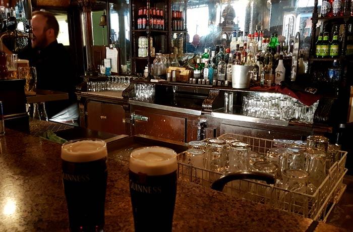 Dos pintas de Guinness una semana en Irlanda