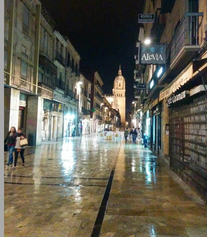 Rúa Mayor, otra calle que cuando llega la noche se muestra más íntima Salamanca San Valentín