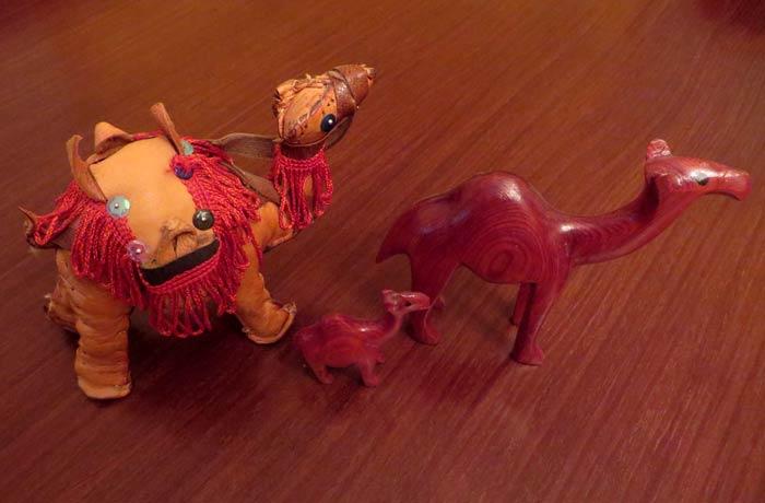 Camellos comprados al simpático niño de Tánger souvenirs del mundo