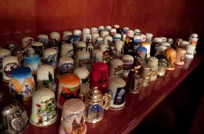 Colección de dedales del mundo souvenirs del mundo
