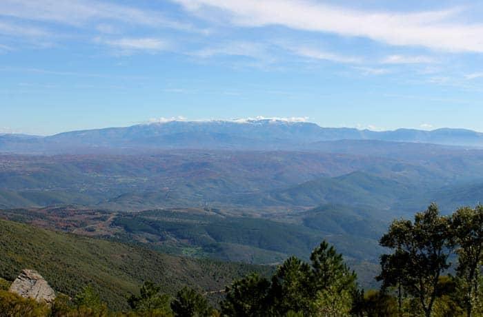 Las sierras de Béjar y Candelario desde la Portilla Bejarana