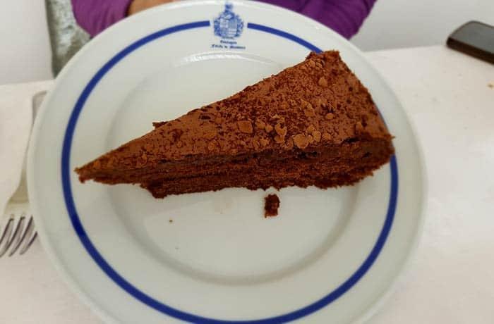 Tarta de chocolate comer en Figueira de Castelo Rodrigo