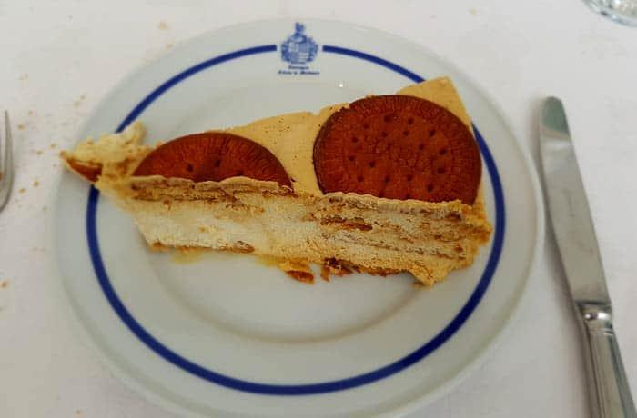 Tarta de galleta comer en Figueira de Castelo Rodrigo