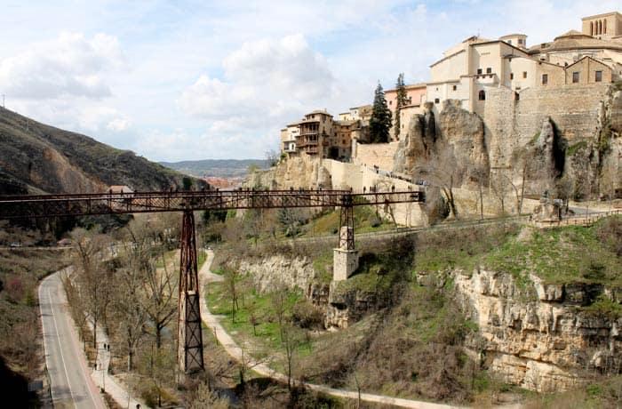 Vistas del puente de San Pablo y las Casas Colgadas desde el Parador que ver en Cuenca