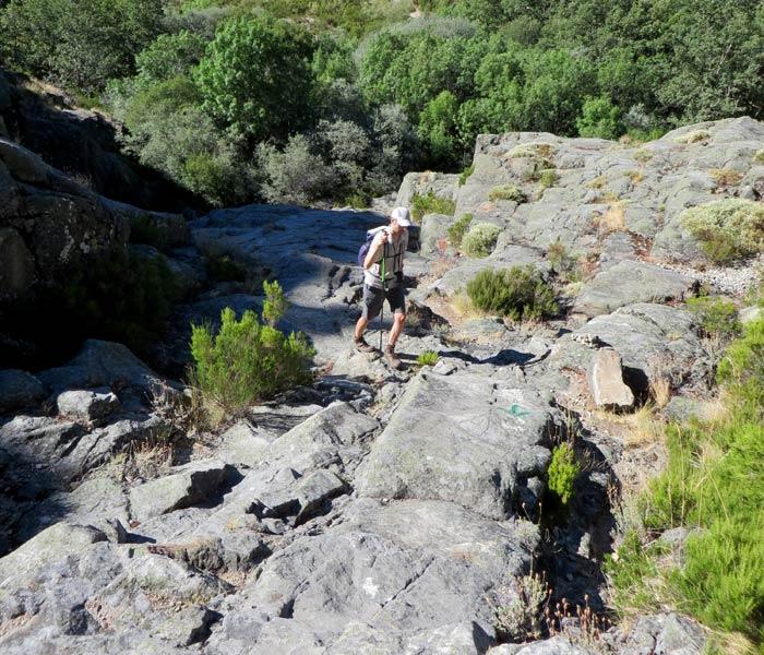 Una de las zonas más duras de subida por el cañón del Tera
