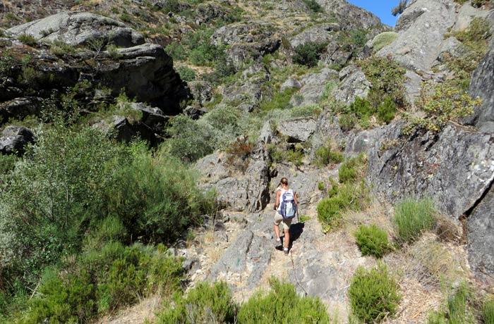 Otra de las zonas más complicadas de la ruta cañón del Tera