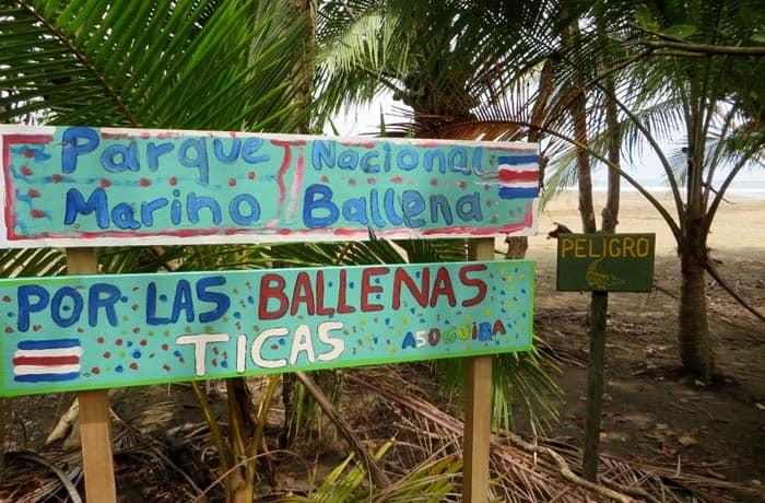 Entrada al Parque Nacional Marino Ballena