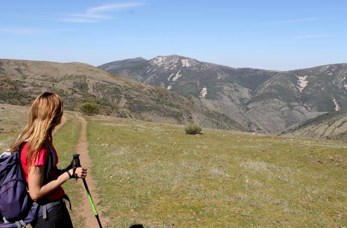 Vista de la sierra de las Quilamas Castillo Viejo de Valero