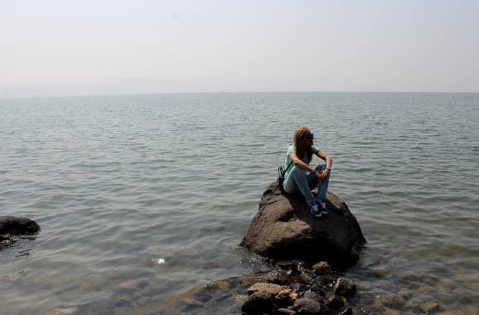 Estefanía, en el mar de Galilea Israel por libre