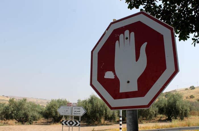 La señal de stop en Israel
