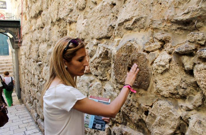 Octava estación de la Vía Dolorosa Israel por libre