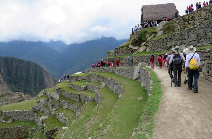 La ciudadela fue construida en la ladera de las montañas