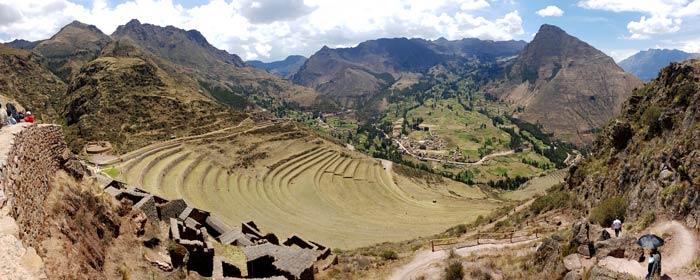 Bancales en las ruinas de Pisac Machu Picchu consejos