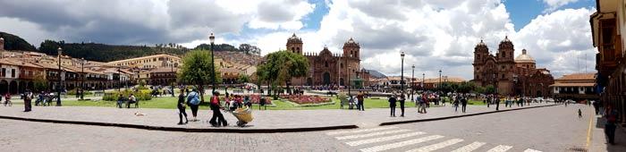 Panorámica de la Plaza de Armas de Cuzco, o 'Cusco' para la población local Machu Picchu consejos