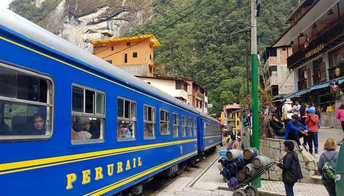 Terminal ferroviaria en Aguas Calientes Machu Picchu consejos