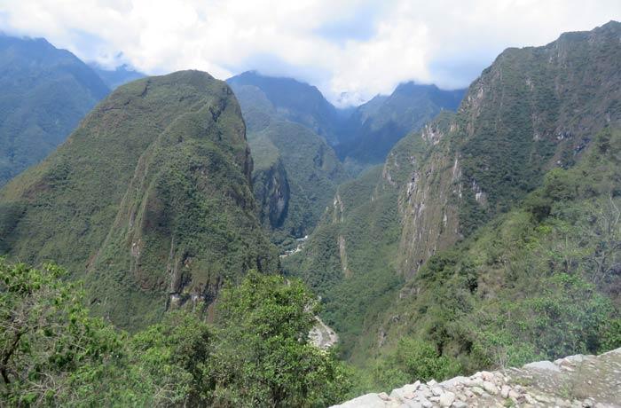 Vistas del valle durante la subida en autobús Machu Picchu consejos