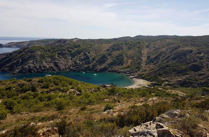 Cala Tavallera desde el sendero que desciende hasta ella mejores calas de la Costa Brava
