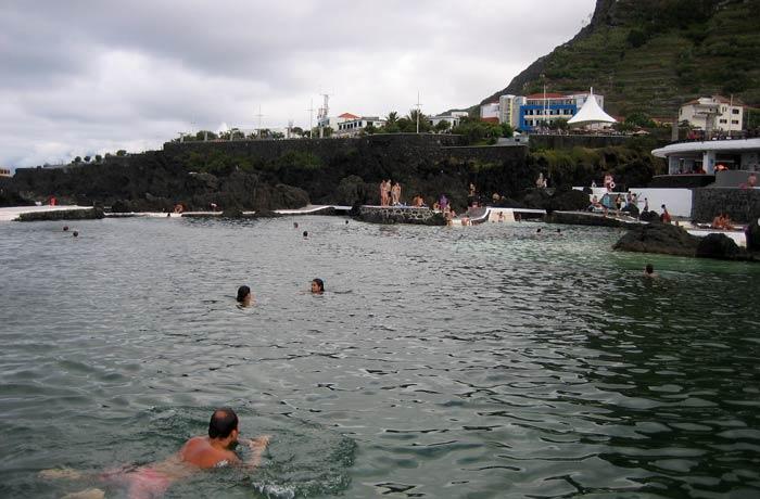 Una de las piscinas de Porto Moniz playas de Madeira
