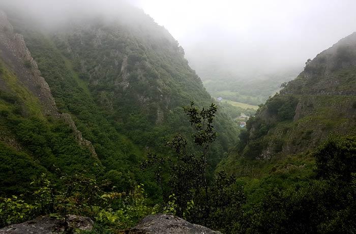 Vista del desfiladero de las Xanas