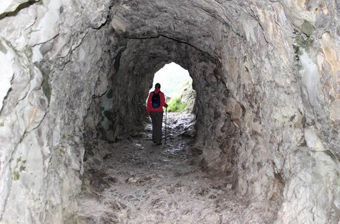 Túnel al comienzo de la ruta de las Xanas