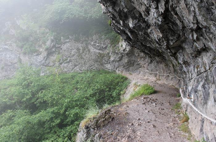 Vista de la ruta de las Xanas
