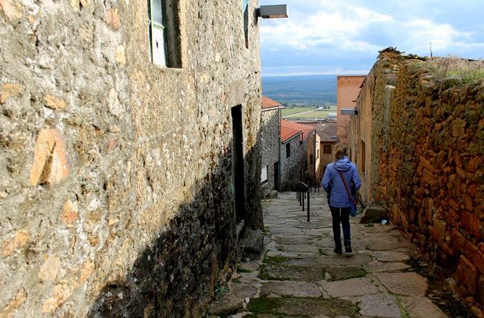 Una de las calles de Castelo Rodrigo