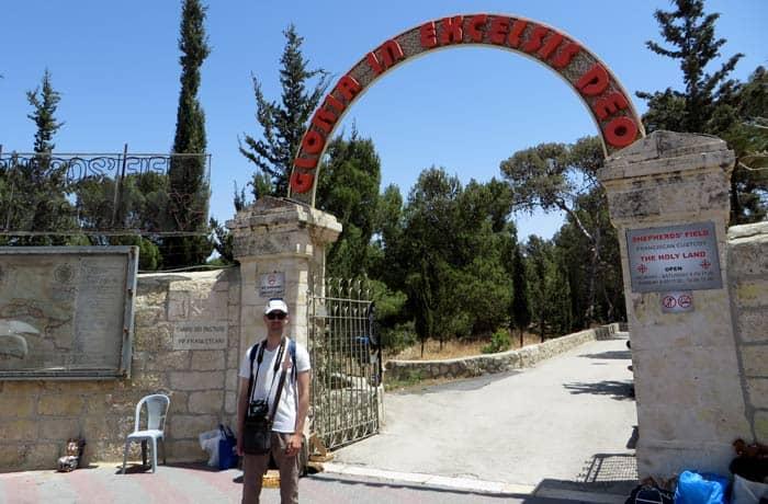 Entrada al Campo de los Pastores Belén desde Jerusalén