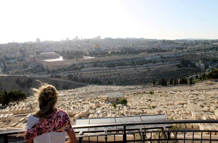 Vista desde el mirador Rehavam del Monte de los Olivos qué ver en Jerusalén
