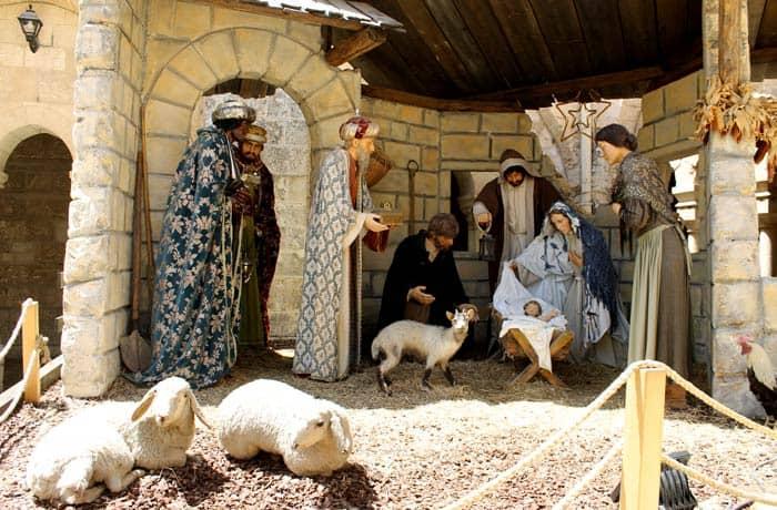Nacimiento en la basílica de la Natividad Belén desde Jerusalén