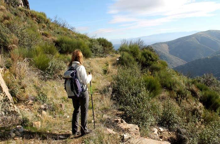 Sendero que nos encontramos antes de la pedrera Cueva de la Mora