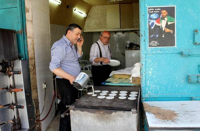 Haciendo tortas Belén desde Jerusalén