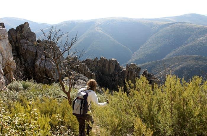 Bajada después de visitar la Cueva de la Mora
