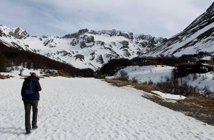 En la ruta del glaciar Martial en Ushuaia Argentina por libre