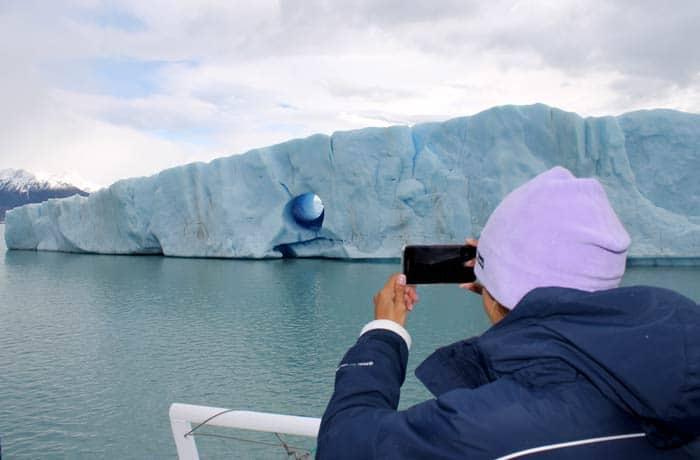 Durante la excursión Ríos de Hielo en el parque nacional de Los Glaciares Argentina por libre
