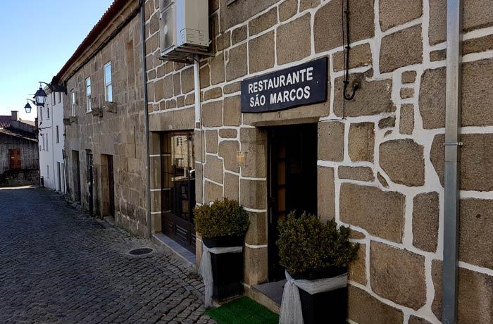 Fachada del restaurante Sao Marcos comer en Trancoso