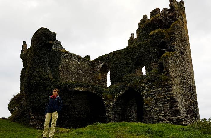 Otra vista del castillo Ballycarbery Anillo de Kerry