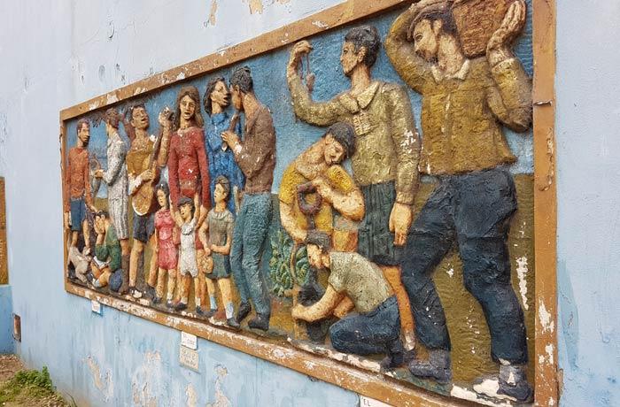 """Mural """"El maestro. El coro. El trabajo"""" visitar La Boca"""