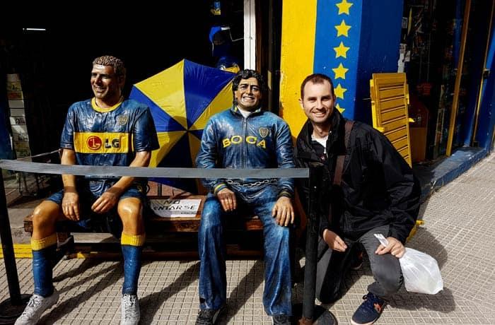 Junto a Palermo y Maradona visitar La Boca