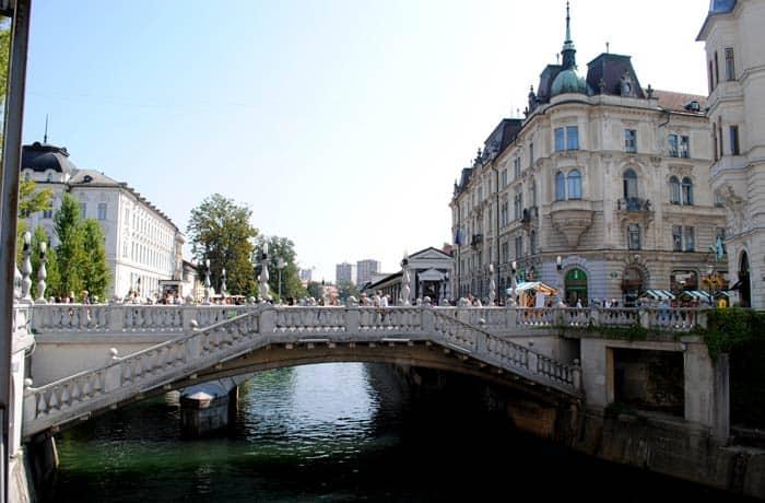 Puente Triple de Ljubliana ruta por Eslovenia