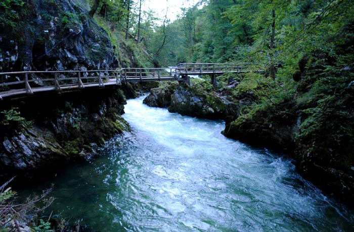Desfiladero Soteska Vintgar ruta por Eslovenia