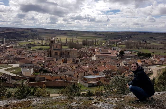 Peñaranda de Duero desde el castillo Ribera del Duero Burgalesa