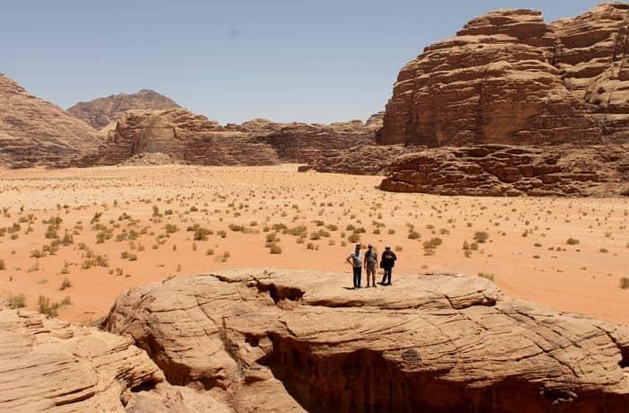 Vista del desierto de Wadi Rum