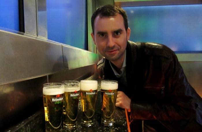 Bebiendo Heineken Ámsterdam en tres días