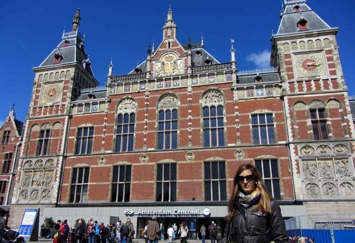 Centraal Station Ámsterdam en tres días