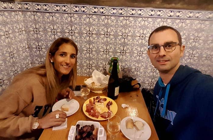 Comiendo en la Adega Kilowatt comer en Amarante